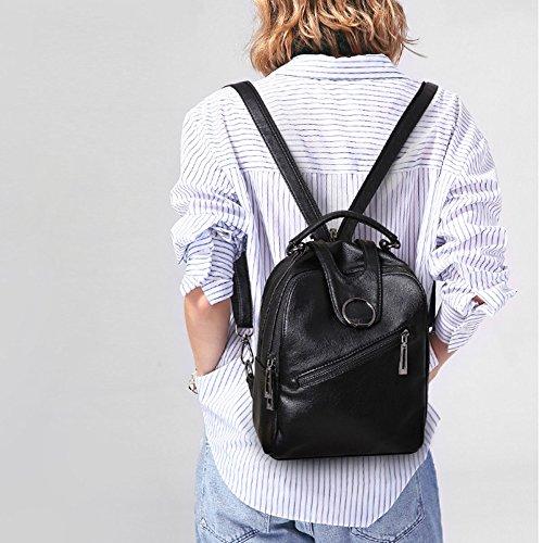 De à Vintage Daypack Voyage Black Cuir D'école Sac Petits En Casual ADEMI Mode Féminine PU Sacs Dos 601qPx