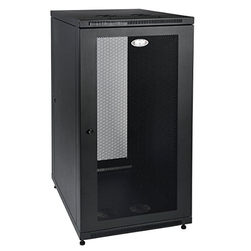 Tripp Lite 24U Rack Enclosure Server Cabinet, Mid Depth, 32.5