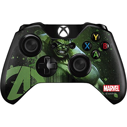 Skinit Decal Gaming Skin for Xbox One Controller - Officially Licensed Marvel/Disney Hulk is Ready Design (Skin Xbox Hulk Controller One)