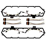 7.3 Ford Diesel Powerstroke Valve Cover Gasket with Injector Glow Plug Harness 7.3L F250 F350 1994-1997