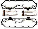 Michigan Motorsports 7.3L Diesel Powerstroke Valve Cover Gasket with Injector Glow Plug Harness - Fits Ford 7.3 F250 F350 1994-1997