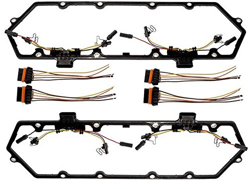 Michigan Motorsports 1994-1997 7.3L Diesel Powerstroke Valve Cover Gasket with Injector Glow Plug Harness - Fits Ford 7.3 F250 F350 Econoline Superduty (Cover Plugs Ignition)