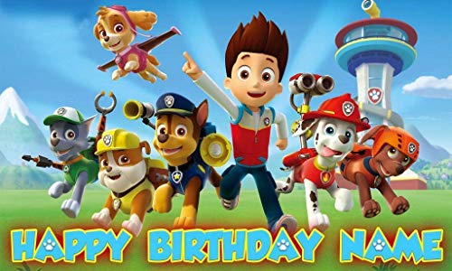 Paw patrol Birthday Party Banner Personalized/Custom Decoration ()