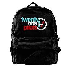 ATTENRY Canvas Backpacks 21 Pilots Canvas Backpack Travel Rucksack Backpack Daypack Knapsack Laptop Shoulder Bag