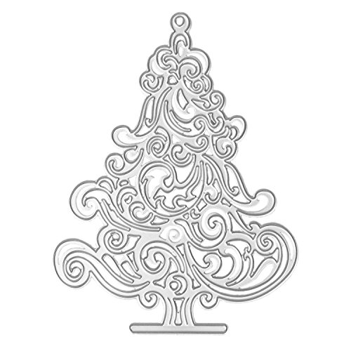 SODIAL Cutting Dies Christmas Trees for Card Making, Cut Die Stencil Template Mould for DIY Scrapbook Embossing Album Paper Card Craft (B) ()