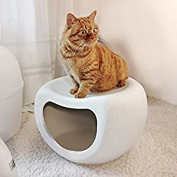 Dog Houses Cat Dogs House Pets Cool Nest Cage Kennel,Shoe Bench Rack Storage Shelf Bench-White