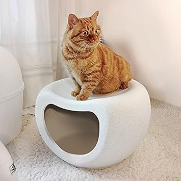 Nclon Perro Casas Gato Perros Casa Mascotas Frío Nido Jaula Perrera,Zapato Banco Rack Almacenamiento Estante Banco-Gris: Amazon.es: Hogar