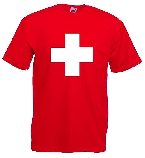 world-of-shirt Damen T-Shirt Suisse//Schweiz Trikot