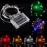 2M 20 LED Lucky Egg Style Battery Operated Xmas String Fairy Lights Party Wedding Christmas Decor - (Color: Yellow)