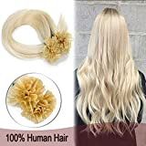 "Remy Pre Bonded Fusion Hair Extensions Human Hair Highlighted 20"" 100 Strands Keratin"