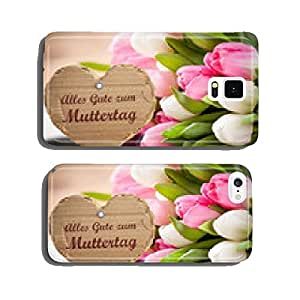 Flowers and heart-shaped message for Mother's Day cell phone cover case Samsung S5
