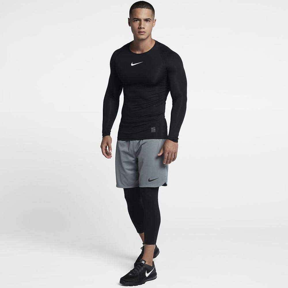 Nike Men's Pro 3qt Tight (Black/Anthracite/White, Small) by Nike (Image #4)