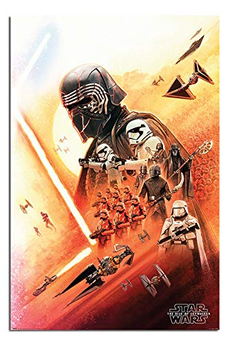Star Wars The Rise of Skywalker Kylo Ren Poster Satin Matt Laminated - 91.5 x 61cms (36 x 24 Inches)