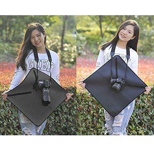 Taille ZZjingli Accessories Sac en n/éopr/ène Anti-Choc Magique Couverture Wrap for Canon//Nikon//Cam/éra Sony Lens 25 x 25 cm