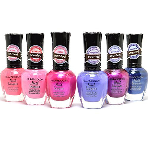 KLEANCOLOR SCENTED LACQUER NAIL POLISH LOT OF 6 PCS for sale  Delivered anywhere in USA