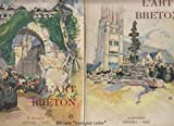 l art breton ouvrage orn? de 294 h?liogravures couvertures de mathurin meheut hors texte en couleurs de germaine petit tome 1 et 2