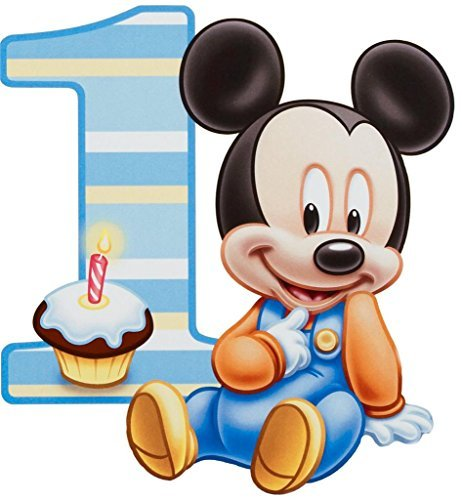 Baby Mickey Mouse One Year 1st Birthday Edible Image Phot...