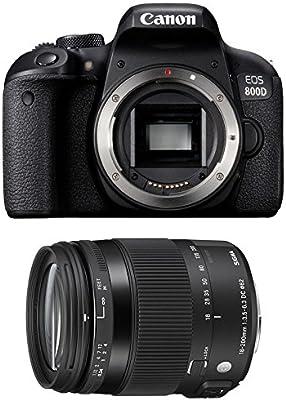 CANON EOS 800D + SIGMA 18-200 OS HSM Contemporary: Amazon.es ...