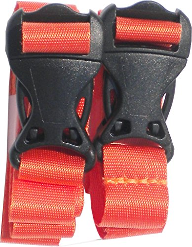 BootYo! PackYo! Utility straps/cinch lash strap with Quick release buckle by Mt Sun Gear. Great for backpacking, air mattresses, sleeping bags (pair orange 32