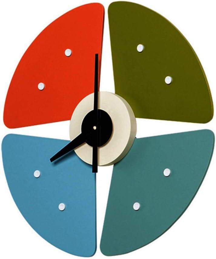 掛け時計 カラフルな円形ファイバー素材時計パーソナライズされたファッション時計ミュート時計のサイズ45センチメートル* 45センチメートル* 5センチメートル MJZJP