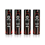 Ohmash O-B18650-40R 18650 Battery 2600mAh, 40A Flat Top 3.7V Rechargeable ...
