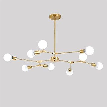 DIDIDD Decke Kronleuchter-Nordischen Stil Glasschirm Eisen Lampe ...