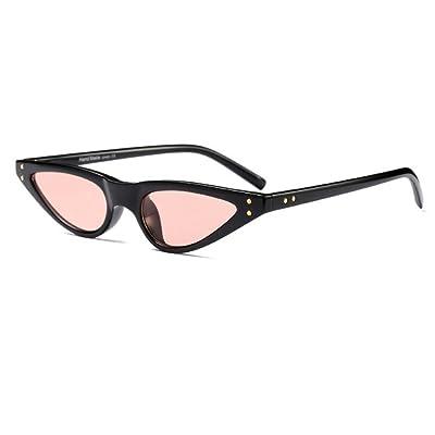Aiweijia Femmes Vintage Retro Cat Eye lunettes de soleil petit cadre  designer lunettes 27e23f5566a4