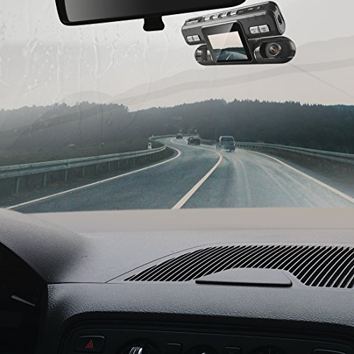 Pruveeo MX2 Dash Cam Front and Rear Dual Camera for Cars, 240 Degree Wide Angle Driving Recorder DVR by PRUVEEO (Image #6)