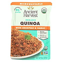 Ancient Harvest Quinoa With Chickpeas & Garlic Organic, 8 Oz