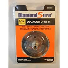 "2-3/4"" 70.2 mm DiamondSure Diamond Drill Bit Hole Saw for Glass, Tile, Granite, Ceramic, Porcelain, Stone"