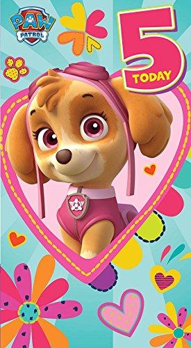 Paw Patrol Geburtstagskarte Zum 5 Geburtstag Amazon De Spielzeug