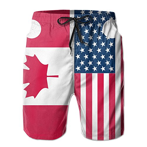 Canadian And American L Beach Pants Of Men Hipster Summer Pants Casual Quick - Dry Bathing Suits For Swim Trunks Cargo Shorts With Ventilation Summer Fast-Drying Beach (Hipster Swimwear Trunks)