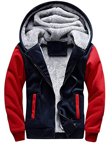 MANLUODANNI Men's Casual Hooed Hoodies Thick Wool Warm Winter Jacket Coats
