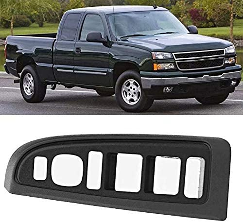EMIAOTO Window Switch Bezel Dark Pewter Front Left OEM 89045128 for Chevy /& GMC Accessory 89045128