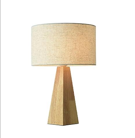 Lámparas de escritorio lámpara de mesa de noche de madera maciza ...