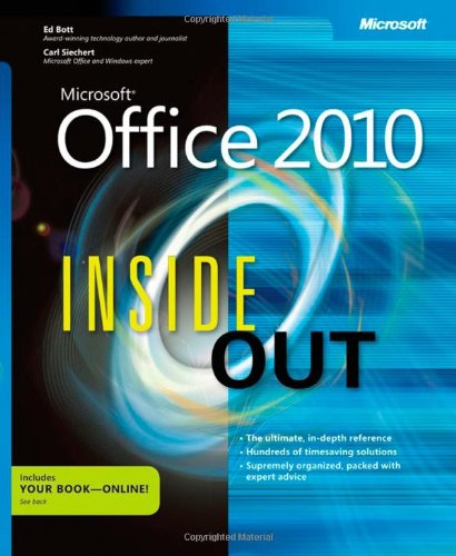 [PDF] Microsoft Office 2010 Inside Out Free Download | Publisher : Microsoft Press | Category : Computers & Internet | ISBN 10 : 0735626898 | ISBN 13 : 9780735626898