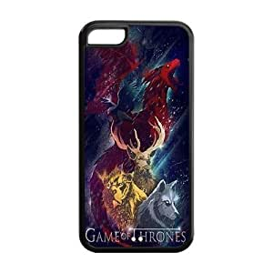 Case for iPhone 5C,Cover for iPhone 5C,iPhone 5C case,Hard Case for iPhone 5c,Game of Thrones Design TPU Screen Protector Hard Case for Apple iPhone 5c