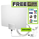 Mohu Leaf 50 TV Antenna, Indoor, Amplified, 50 Mile Range, Original Paper-thin, Reversible
