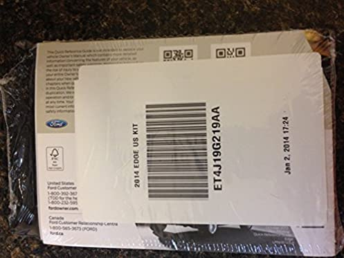 amazon com 2014 ford edge owners manual ford books rh amazon com ford edge owner's manual ford edge owner's manual 2013