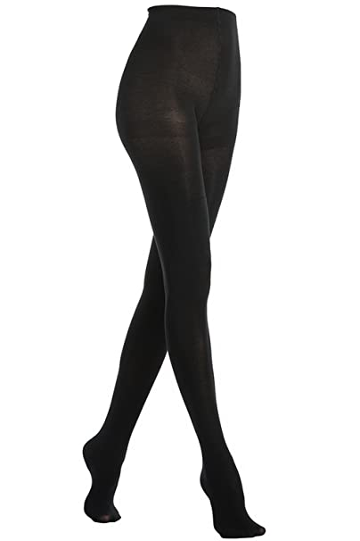 fa697564d9d24 MANZI One Pair Black 150 Denier Women's Warm Fleece Opaque Tights: Amazon.co.uk:  Clothing
