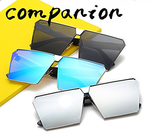 Unisex Sun Street Eyewear white Sunglasses Mercury Glasses Square Frame Fashion Silver Women Lens Oversize Protection Sunglasses Special Men Luxury UV 5vzwXX