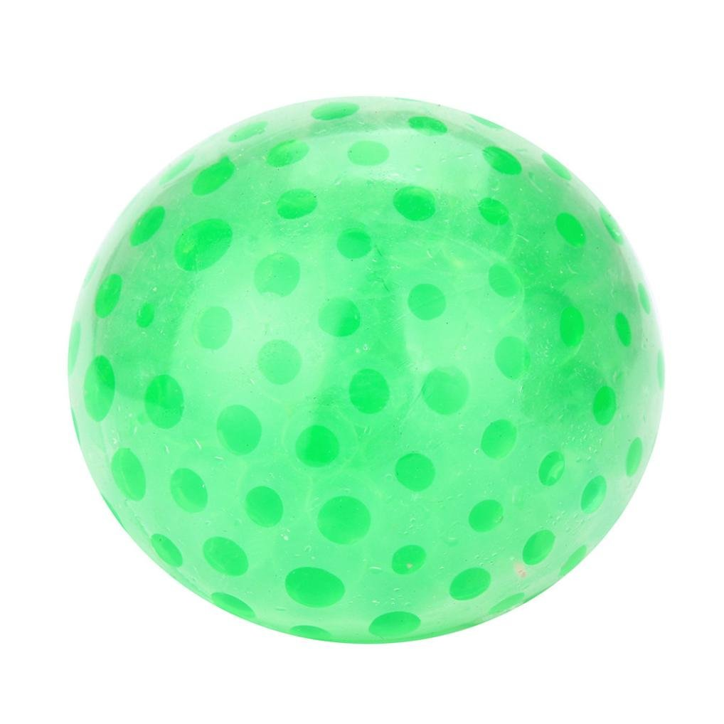 Squishy Stress Relief Balls, SUKEQ Amazing Spongy Bead Stress Ball Toy Squeezable Stress Relief Ball/Squishy Toy/Squeeze Ball/make stress ball/Bead Gel Stress Ball (Green)
