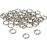 BFlowerYan 50 Split Rings Nickel Plated 9mm