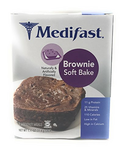 Medifast Brownie With Real Chocolate Chips  1 Box 7 Meals