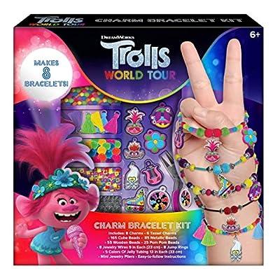 Trolls World Tour Girls Charm Bracelet Making Crafts Set - Makes 8 Bracelets: Toys & Games