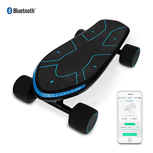 SWAGTRON Spectra Advanced Electric Cruiser Skateboard  12 Miles Per Charge  15 MPH  Mobile App
