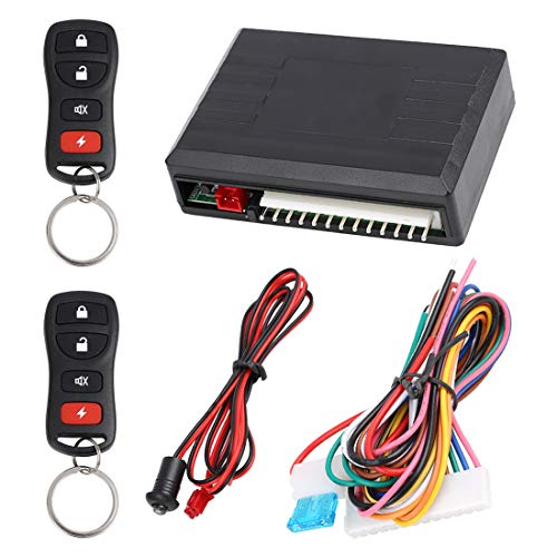 - X AUTOHAUX Universal Car Keyless Entry System Door Lock Locking Remote Central Kit DC 12V