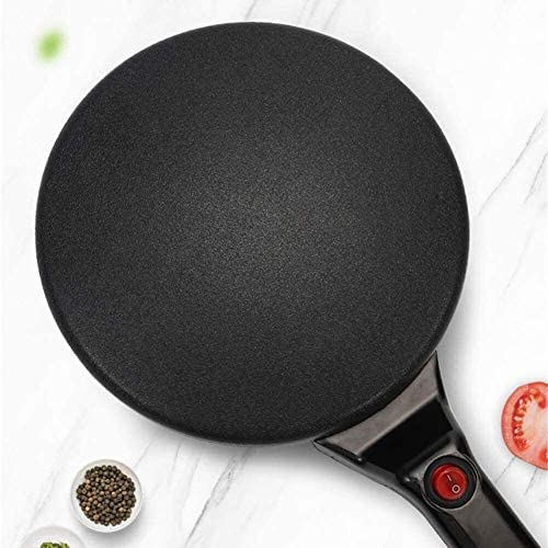 HYISHION Barbecue, crêpes Pan avec contrôle de température réglable, Mini Grill Santé et crêpière, Non-Stick Amovible Surface en céramique, Facile à Nettoyer, 600 W SKYJIE
