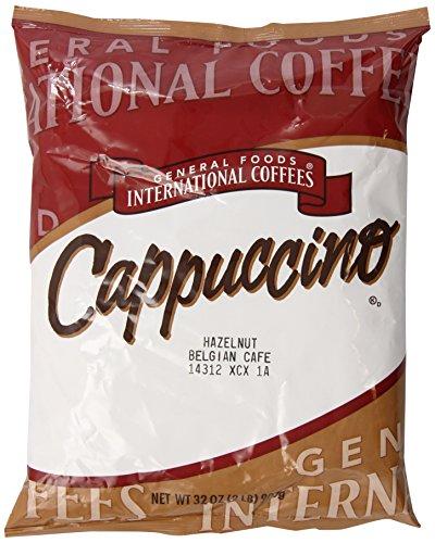 General Foods Hazelnut Belgan Instant Coffee Mix, 2 lb. pack, Pack of 6 -