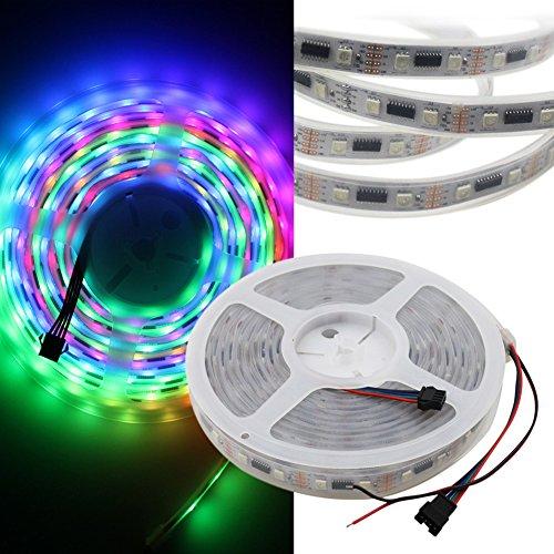 SZMINILED 1m/4ft Addressable Color Built-in 24ICs LED Pixel Strip 48LEDs DC5v White PCB LPD8806 RGB LED Strip 5050 Waterproof